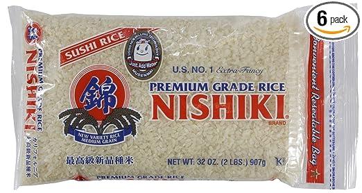 Nishiki Premium pegajosa arroz, 32-Ounce bolsas (Pack de 6 ...
