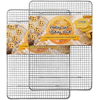 Hiware 2-Pack Cooling Racks for Baking, Fits Half Sheet Pan, Stainless Steel Cookie Rack, Oven & Grill Safe, Rust…