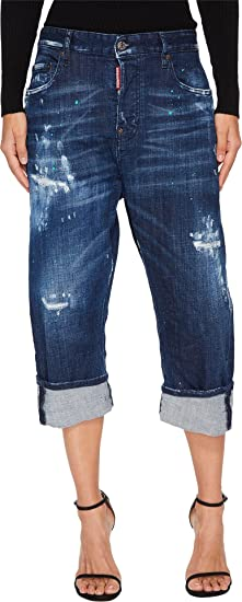 509fb360cd717d Amazon.com: DSQUARED2 Women's Kawaii Medium Stiched Wash Jeans In Blue Blue  42 27: Clothing