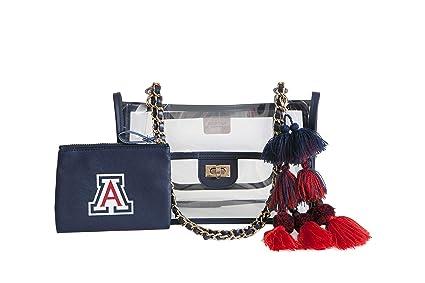 279f5259b0 Amazon.com   SHEERGEAR NCAA Clear Evie Chain Bag (Arizona Wildcats ...