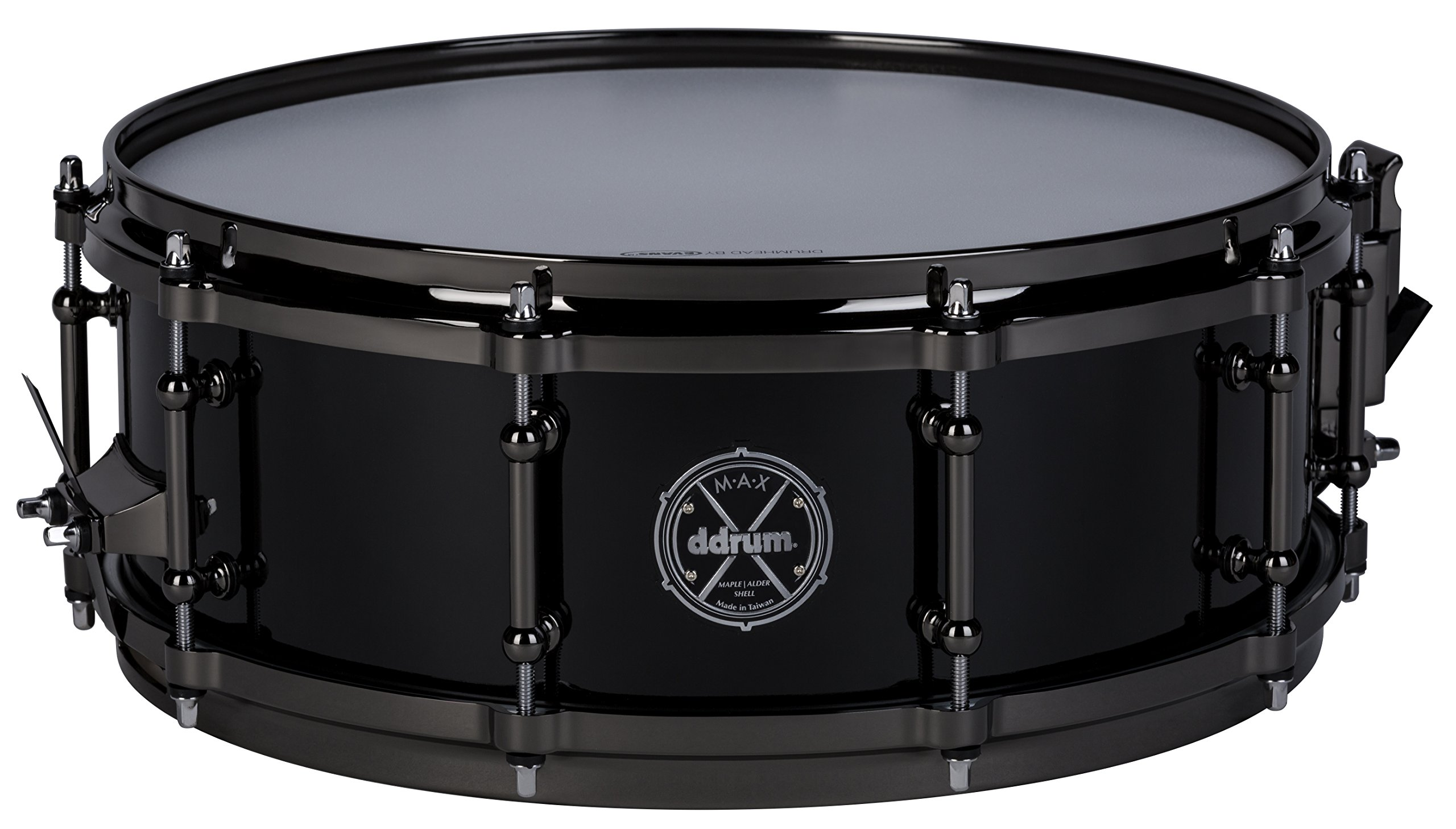 ddrum MAX Series 5x14 Snare Drum-Piano Black (MAXSD5X14PB
