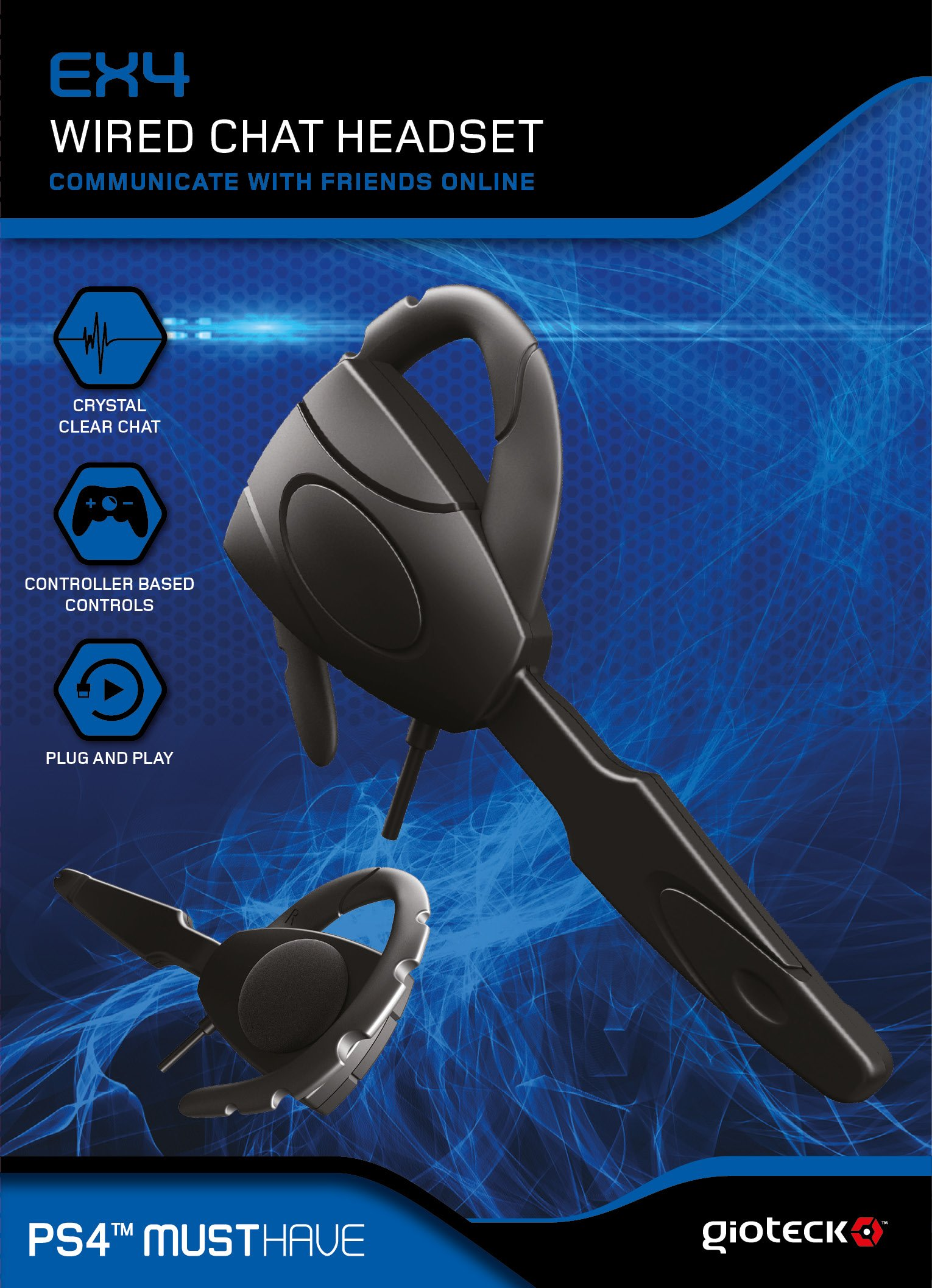 Gioteck EX4 Wired Chat Headset (PS4) by Gioteck