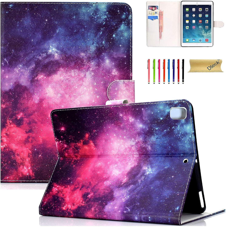 Dteck Case for Apple iPad 9.7 Inch 2018/2017(iPad 5th/6th)/iPad Air/iPad Air 2 Tablet - PU Leather Folio Stand Smart Cover w/Auto Wake/Sleep for Apple iPad 2017/2018, iPad Air 1 2 - Starry Sky
