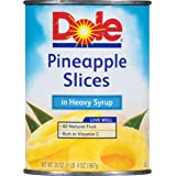 Dole Pineapple Slices in Heavy Syrup, 20 oz