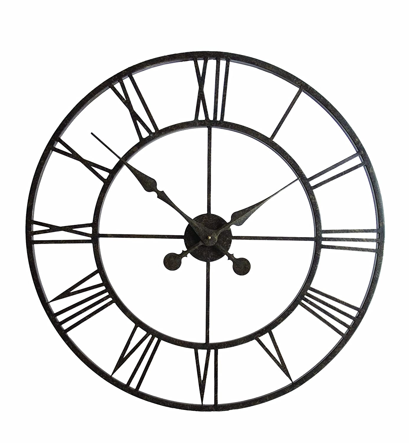 Town & Country Weathereye WEA7 30-inch Metal Frame Outdoor Clock ...