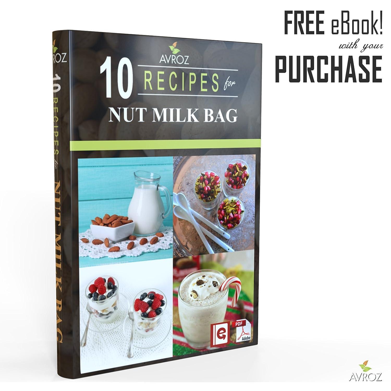 Mi mejor bolsa para leche de nuez – 2 unidades tamaño grande (30,4 x 30,4 cm) y mediano (30,4 x 2,8 cm) Bolsas para leche de nuez resistente y reutilizables ...