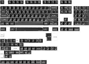 Drop MT3 White-on-Black Keycap Set, ABS Hi-Profile Keycaps, Doubleshot Legends, MX Style Covers Fullsize, Tenkeyless, Winkeyless, 60%, 65%, and 75% (Base Kit)