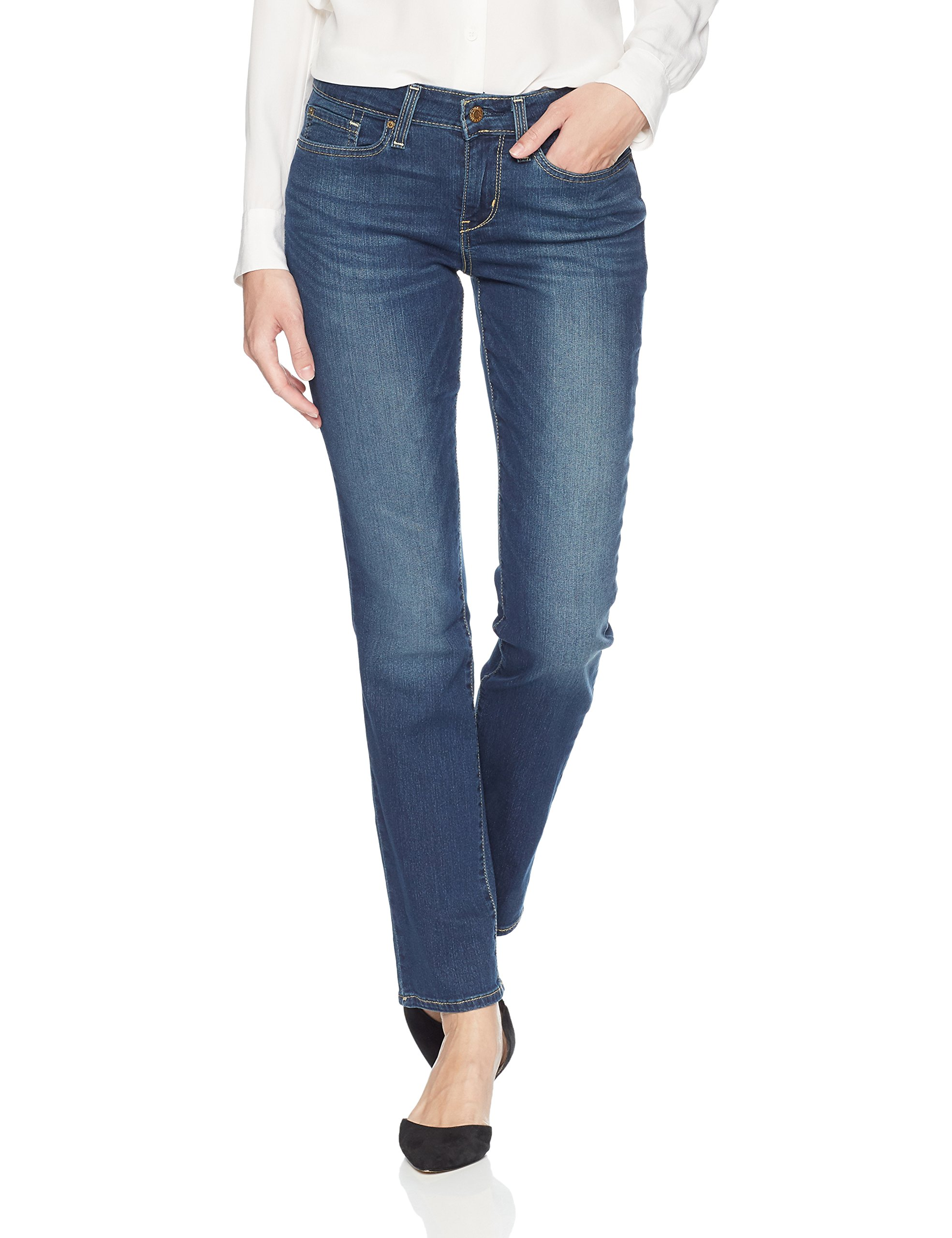 Signature by Levi Strauss & Co. Gold Label Women's Modern Straight Jeans, Molly, 10 Medium