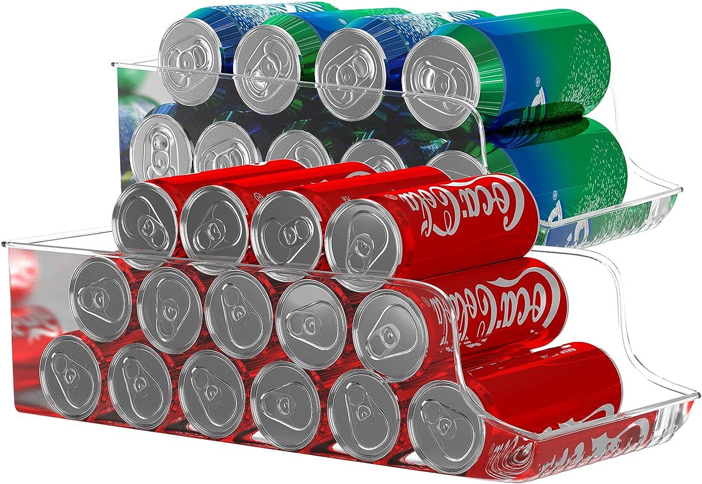 Atopov Set of 2 Refrigerator Organizer Bins Fridge Organizer Freezer Pantry Organization and Storage, Beverage, Canned Food Container Bin for Refrigerator (2)