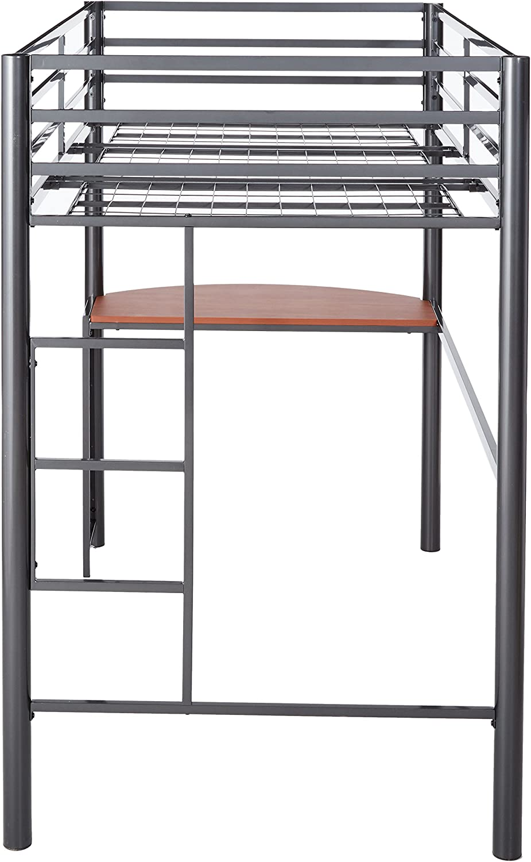 Fisher Twin Metal Workstation Loft Bed Gunmetal