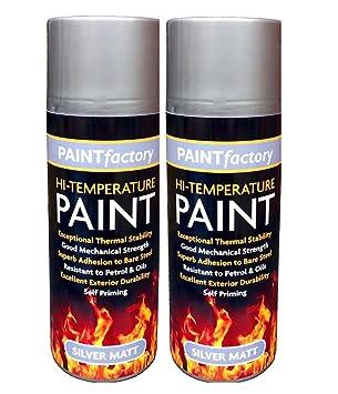 2 x 400 ml cocina Spray de pintura 400 ml alta temperatura 600 °C resistente