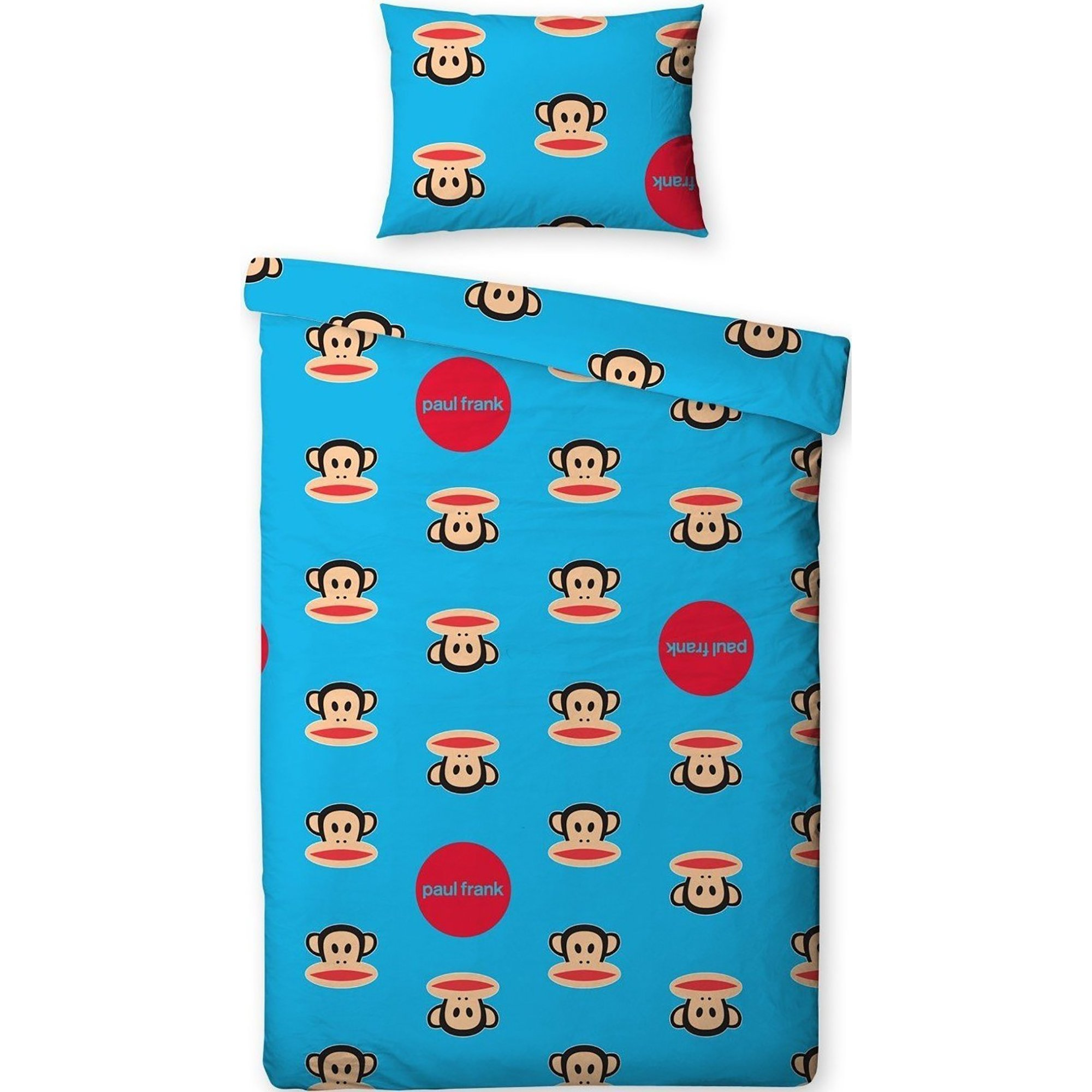 Paul Frank Childrens/Kids Spots Single/Twin Duvet Cover Pillowcase (Twin Bed) (Blue)