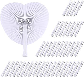 TUPARKA 60 Pack en Forma de corazón abanicos de Papel Plegables ...