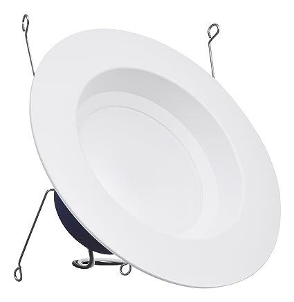 sale retailer a0685 15951 SYLVANIA General Lighting 74403 RT5/RT6 Sylvania 60W Equivalent White Trim  LED Recessed Retrofit Downlight (Fits Housing Diameter: 5-in or 6-in) ...