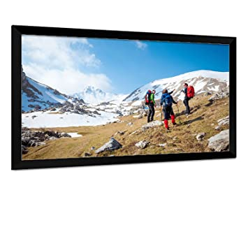 carls fixed frame projector screen kits flexiwhite 169 100 inch diag