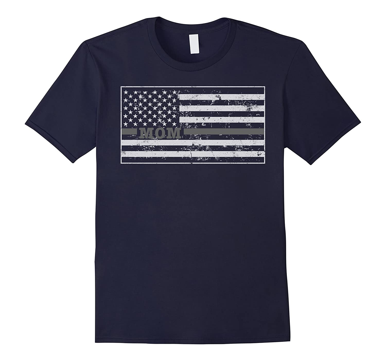Correction Officer Prison Guard Mom Shirt Flag-TH