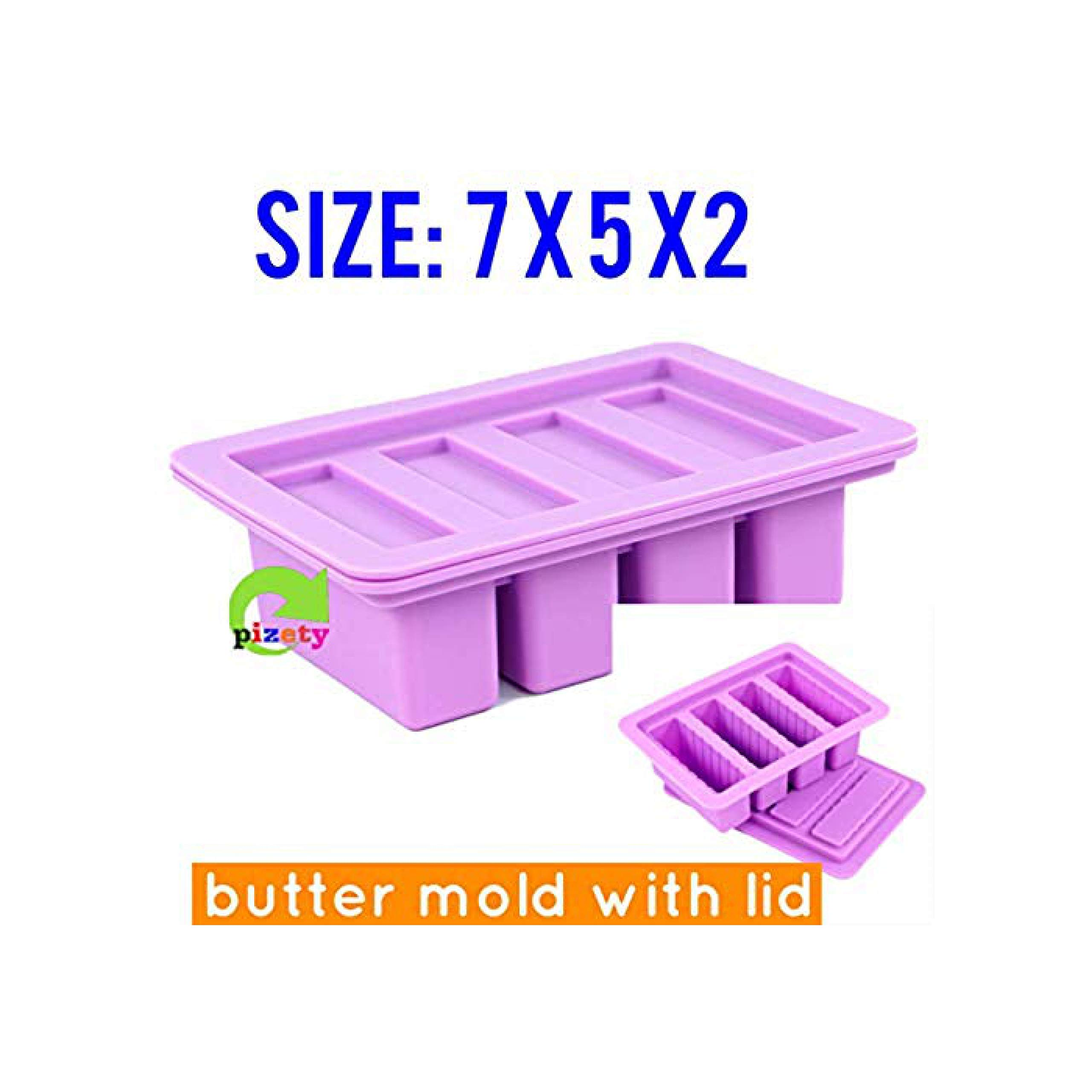 silicone butter mold 4 Cavities butter mold silicone (purple)