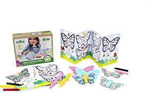 Green Toys Sesame Street Abby's Butterfly Maker Coloring Activity Set, Multicolor