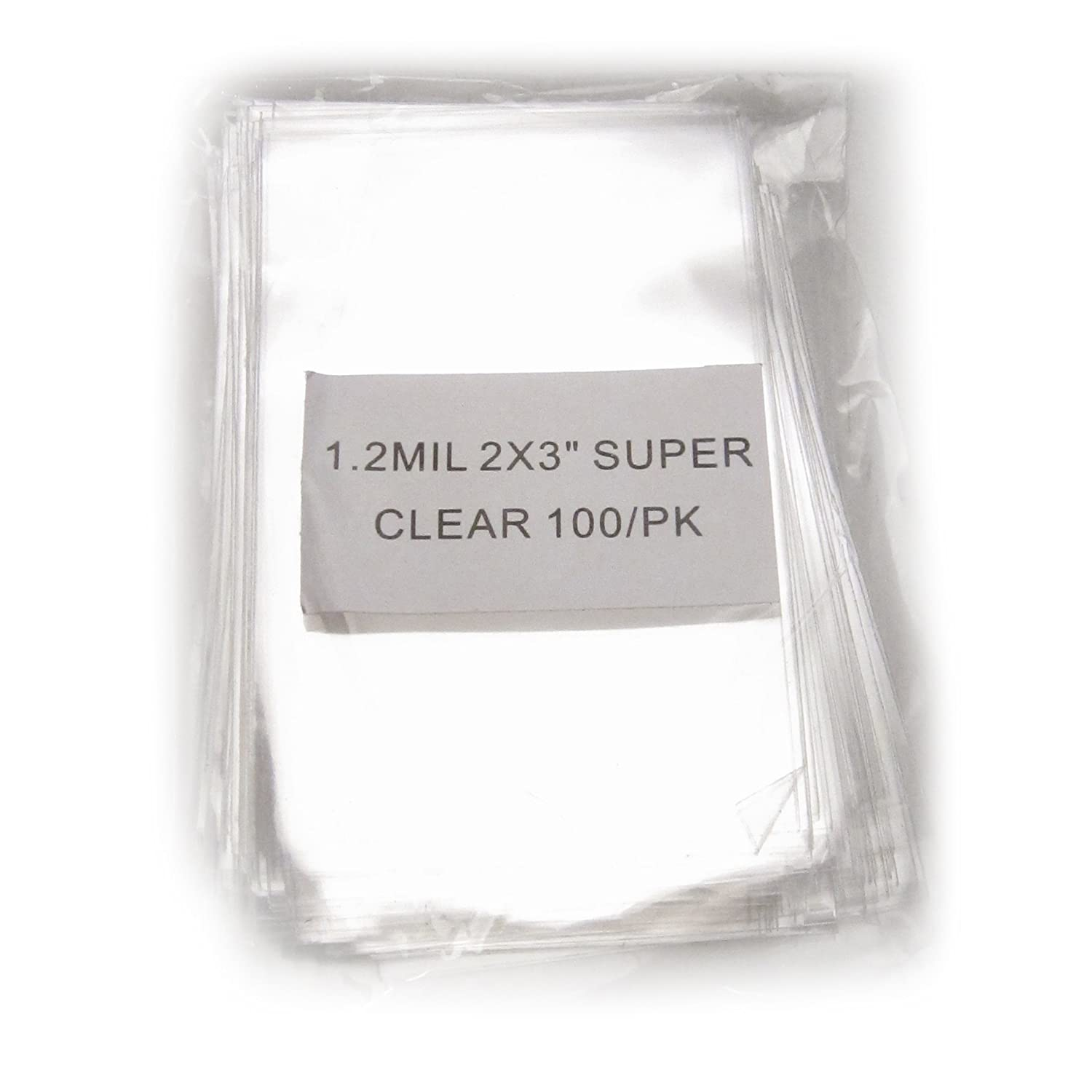 100x Clear Flat Cello/Cellophane Treat Bag 2x3 inch(1.2mil) Gift Basket Supplies