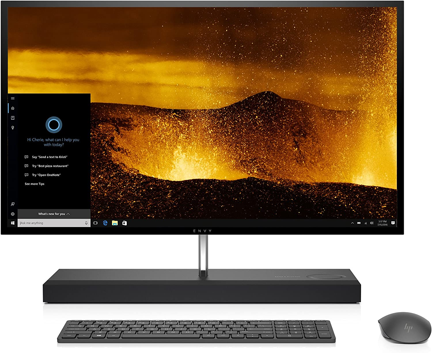 HP 27-b010 Envy All-in-One (Intel Core i7-6700T, 16GB RAM, 1TB HHD, 128G SSD) with Windows 10