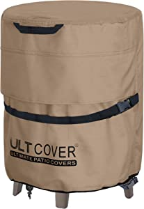 """ULTCOVER Waterproof Patio Cool Bar Table Cover 19.5""""(D) for Outdoor Party Cooler Side Table"""