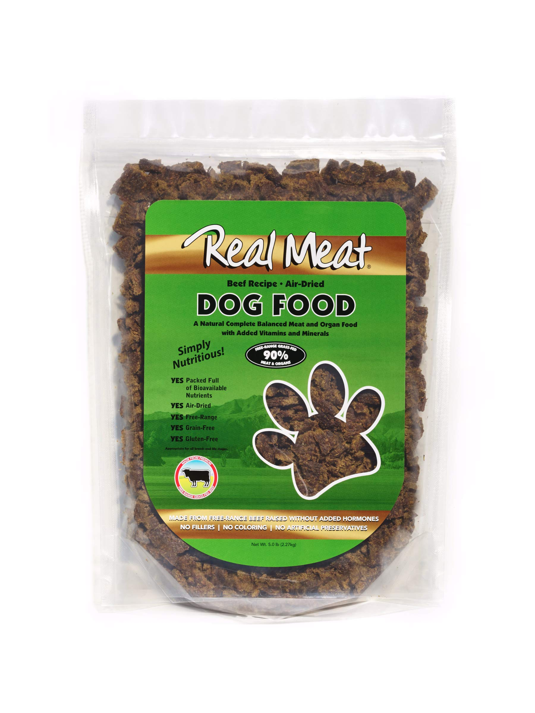 Real Meat 5lb Air-Dried Dog Food, Beef by Real Meat