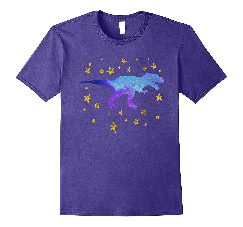 237a6ea193a Cool Galaxy Dinosaur T Rex Gold Star Cute Blue Dino T Shirts-PL – Polozatee