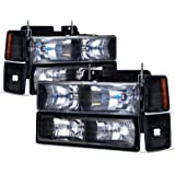Chevy C/K Truck 8pc Black Headlight Set