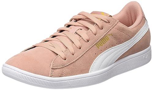 Vikky Peach Beige White Sneakers-3.5