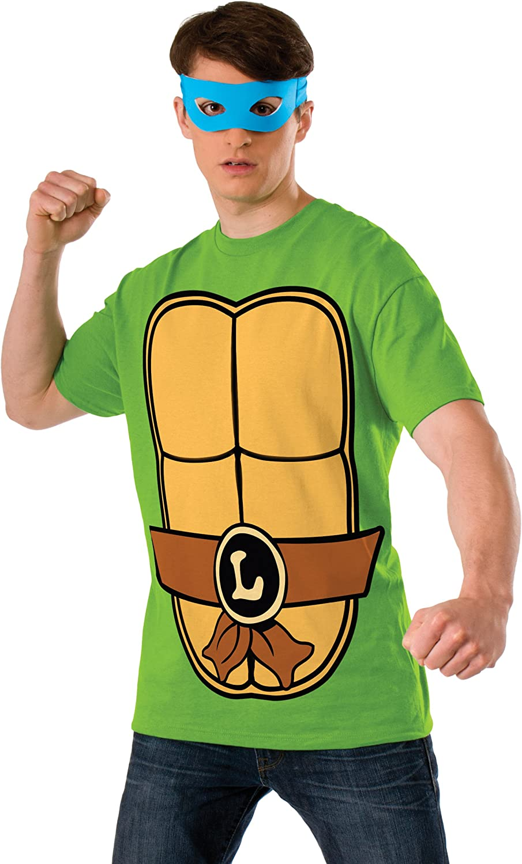 Nickelodeon Teenage Mutant Ninja Turtles Shirt With Mask and Leonardo