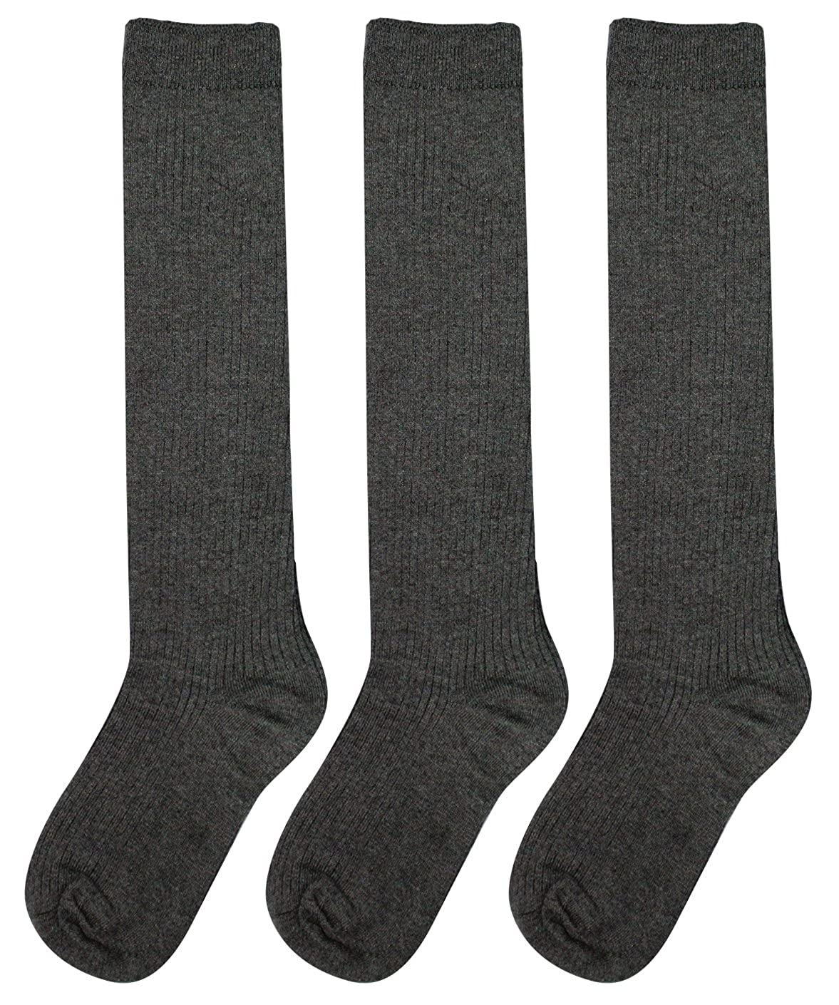 Big Girls School Uniform Knee-High Socks 3-pack