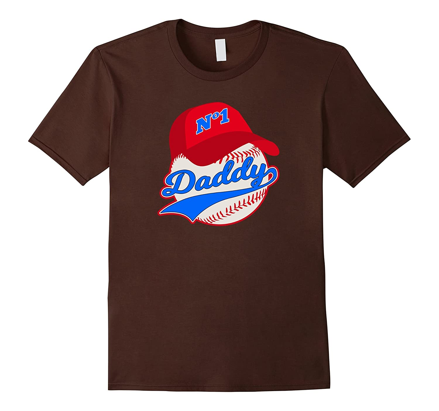 Baseball Daddy Proud Dad Fathers Day Son Daughter T-Shirt-RT