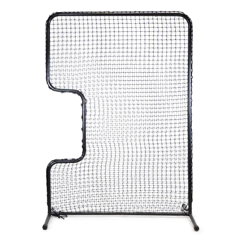 Jugs Standard C-Shaped Softball Screen -Softball Pitcher & Pitching Machine Protection, 7'H x 5'Wwith a 33'' x 18'' Cutout, 45 Ply Poly-E Netting and 1.5'' Diameter Frame,1-Year Guarantee by Jugs