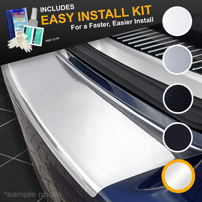 carmats4u Grey Carbon Vinyl Bumper Lip Protector//Self Adhesive