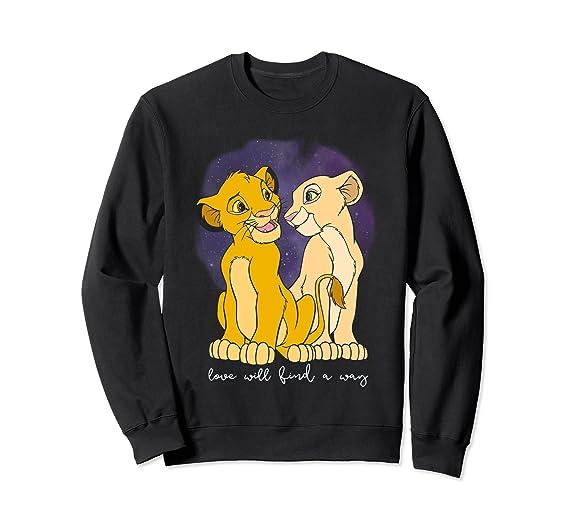 007217430 Amazon.com: Disney Lion King Simba Nala Love Valentine's Sweatshirt:  Clothing