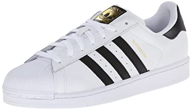 meet 595c6 90a0f adidas Originals Men s Superstar Basketball Sneaker,White Core Black White,4  M