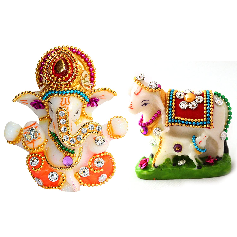 Uniqueart God Antique Ganesha Car Dashboard Decor Statue - Hindu