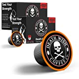 DEATH WISH Death Cups [20 Count] Single Serve Coffee Pods, World's Strongest Coffee, Dark Roast Capsules, For Capsule Cup Bre