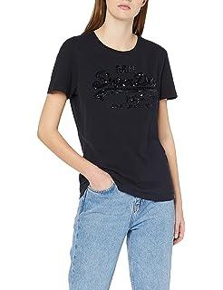 8f216ee8 Superdry Women's Vintage Logo Tropical Infill E T-Shirt: Amazon.co ...