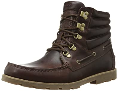 Sebago Mens Hyde Hiker Mid, Dark Brown Leather, ...