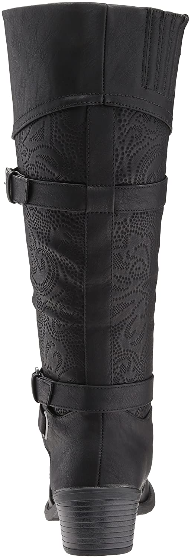 Easy Street Women's Kelsa Harness Boot B071PF7Z1T 6.5 N US|Black/Embossed