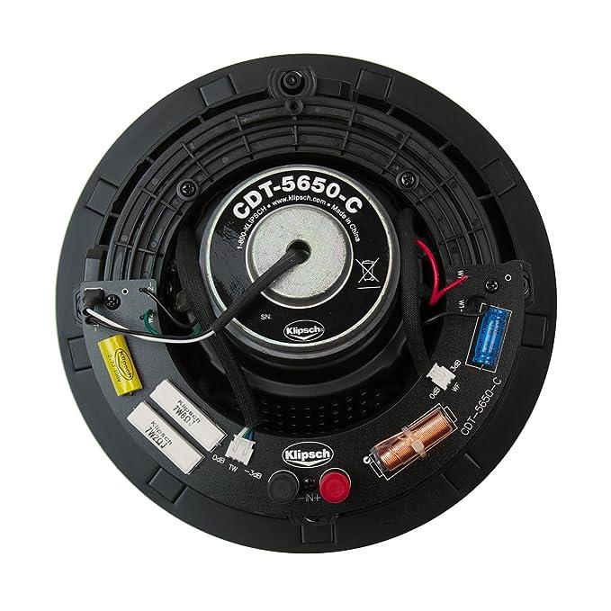 Amazon.com: Klipsch cdt-5650-c II Altavoz de techo, color ...