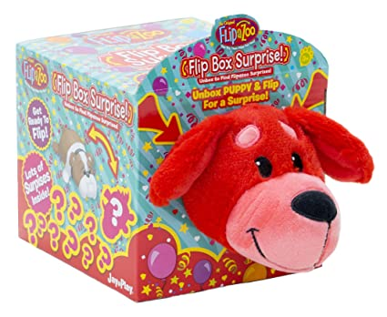Amazon.com: flipazoo rojo cachorro con tapa caja sorpresa ...