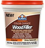 Elmer's E914 Carpenter's Color Change Wood Filler, 16-Ounce, Natural