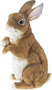 CLEVER GARDEN Cute Resin Garden Statue Decoration, Outdoor Lawn Yard Polyresin Animal Figurine Sculpture Ornament Décor, Rabbit