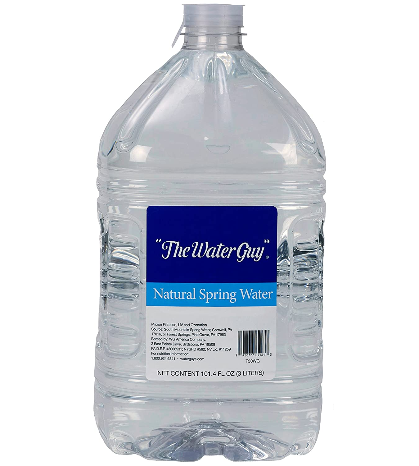 2f71abae6e ... The Water Guy Natural Spring Bottled Water | Great Tasting, All Natural  Drinking Water Provided In Bulk Cases For Easy Storing | Spring Water, 3  Liter ...