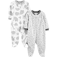 Simple Joys by Carter's Forro Polar para Dormir y Jugar Unisex bebé, Pack de 2