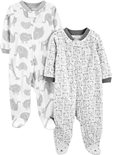 Stripe Beb/è maschietto bianco Elephant Tutina Simple Joys by Carters Giraffe 3-6 Months