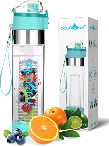 Aquafrut Bottle New Improved Unique Bottom Loading Fruit Infuser Water Bottle