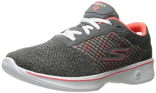 140bd4cf821f Skechers Women s Go Walk 4-Exceed Low-Top Sneakers  Amazon.co.uk ...